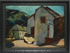 Antique French Modernist Landscape
