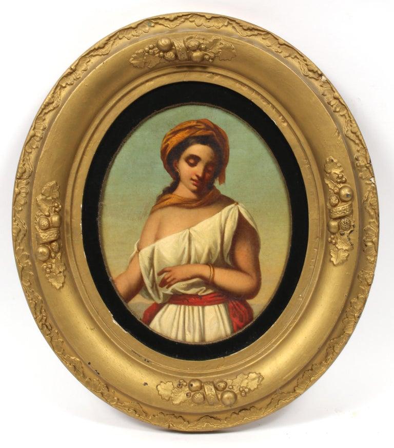 Circular Portrait of a Neapolitan Woman