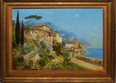 Impressionist Italian Coastal Landscape by Alois Arnegger