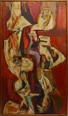 Mid Century New York School Abstract Expressionist Painting
