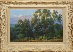 Impressionist View of Eucalyptus Trees in California by Cyrus Bates Currier