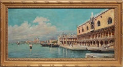 19th Century Impressionist Italian View of Venice by Emilio Fossati