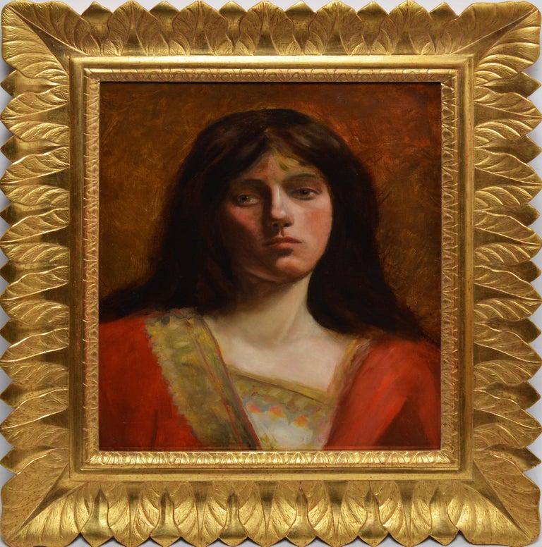 Unknown Portrait Painting - 19th Century American School Portrait