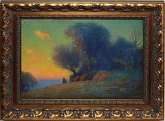 Impressionist Sunset in the Finger Lakes by William Charles Baker
