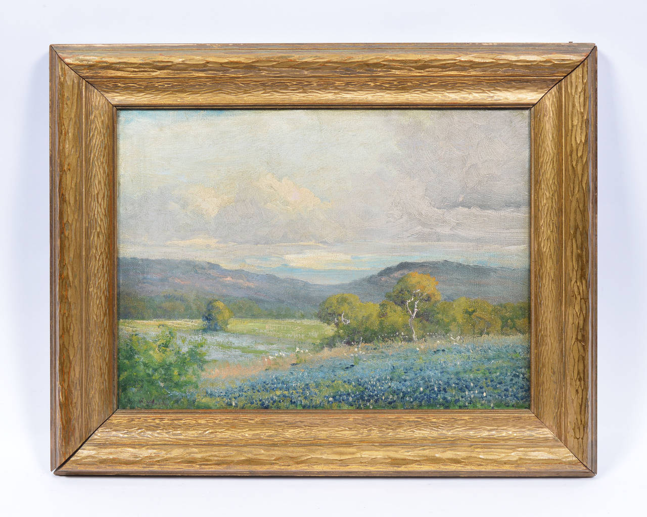 Robert William Wood Texas Bluebonnet Landscape Painting For Sale At 1stdibs