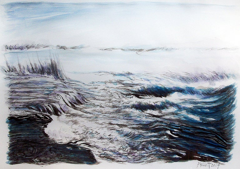 Patrick Willett Abstract Drawing - Upper Rapids