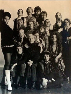 Andy Warhol with his Factory Group