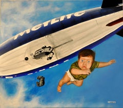 A is for Alfie who plunged from a blimp