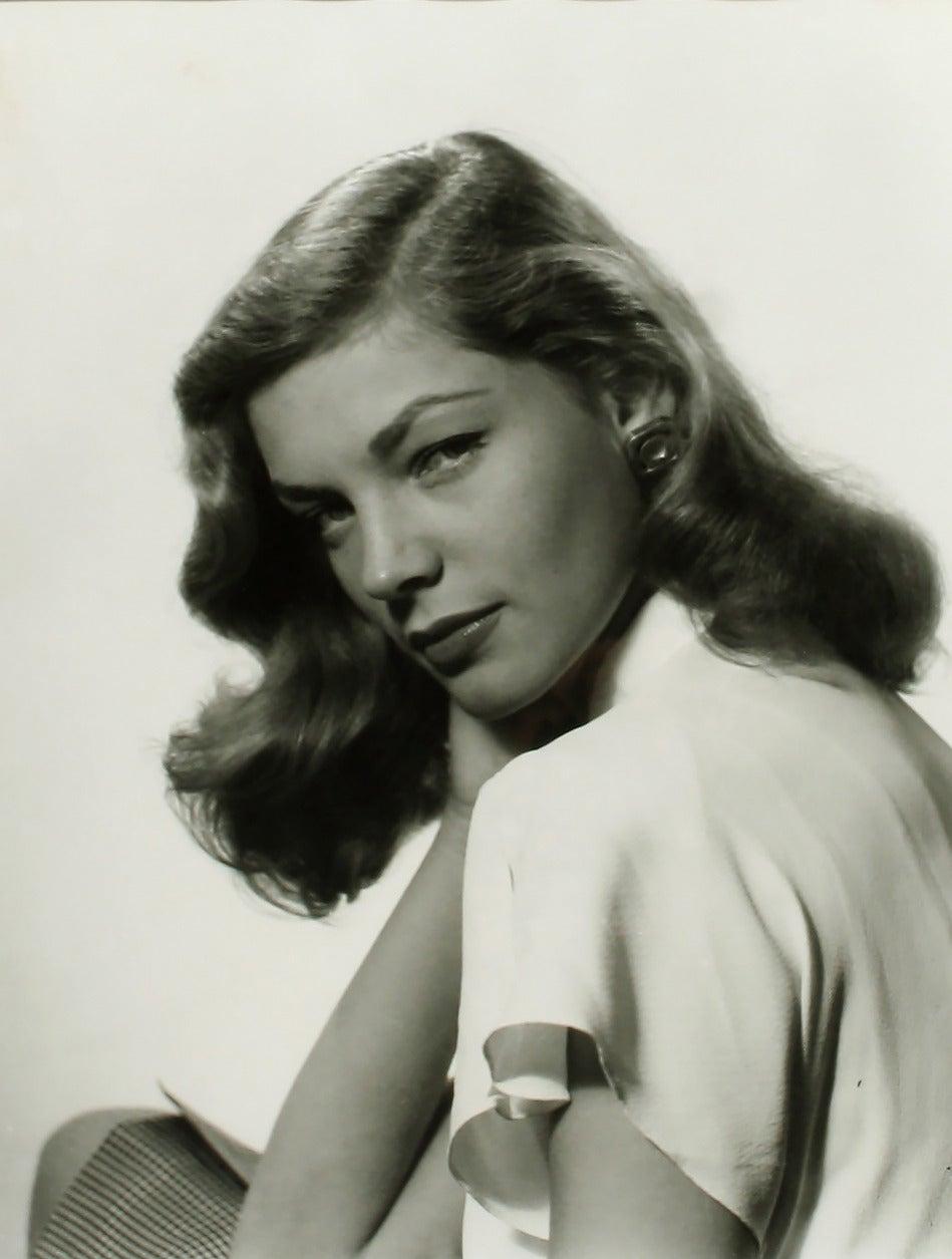 Philippe Halsman Figurative Photograph - Lauren Bacall