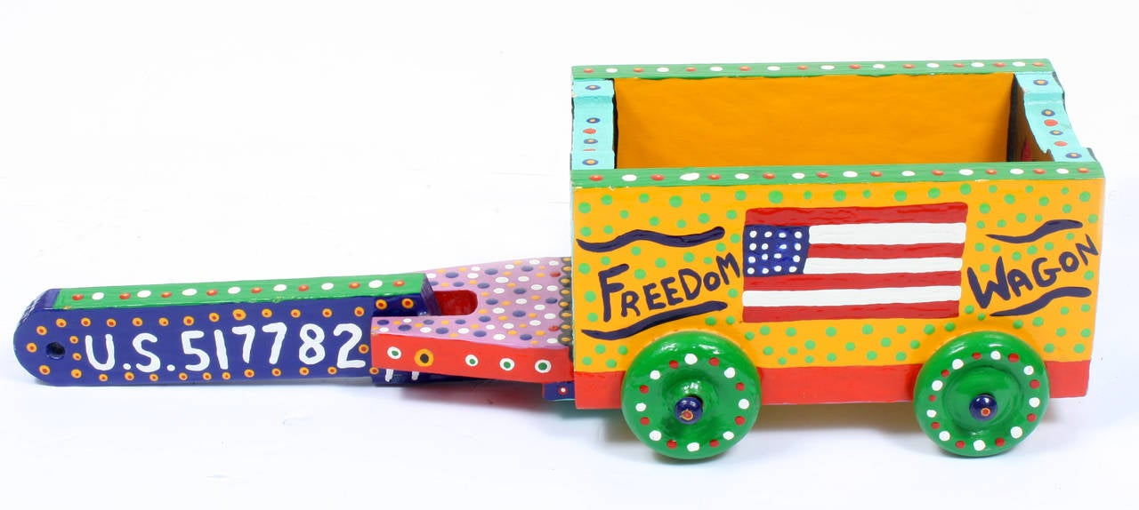 Freedom Wagon - Primitivism Sculpture by James (Jimmy) C. Litz