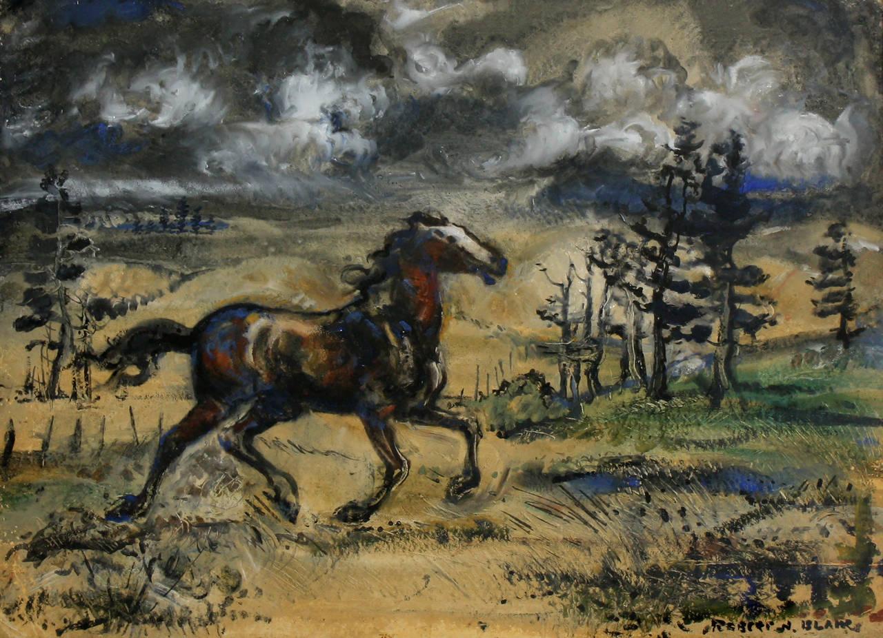 Robert Noel Blair Landscape Painting - Wild Horse