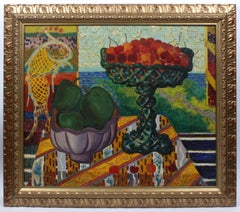Still Life with Cherries and Green Apples