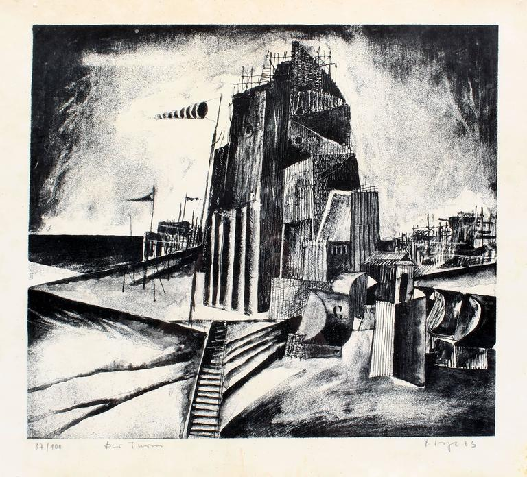 Modern American Industrial Landscape  - Print by Unknown