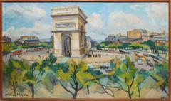 View of Paris and The Arc de Triomphe by Helen Marre