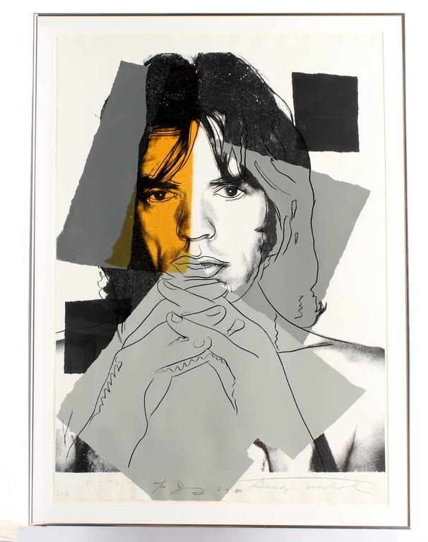 Mick Jagger 147 - Print by Andy Warhol