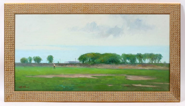Golfing Long Island - Painting by Chuck Fee Wong
