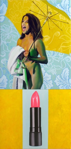 Untitled 22 (Lipstick Diptych)