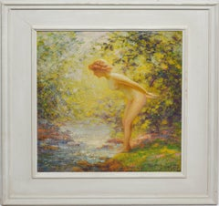 """""""Fascination"""", Nude Woman in the Forest by Gaspare J Ruffolo"""