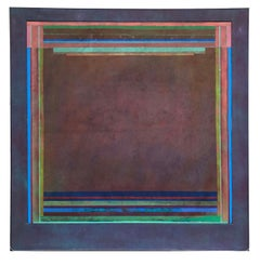 Richard Huntington 1960s Geometric Abstraction Large Mid Century Modern NYC