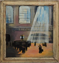 Modernist Oil Painting of Grand Central Terminal, New York, by Elizabeth Driggs