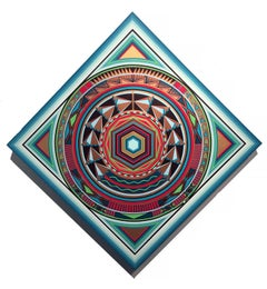 NC Miller Contemporary Hard Edge Abstraction Wall Sculpture 3-D Southwestern