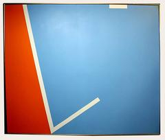 Hard Edge Abstraction in Blue and Orange