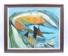 Cubist Harbor Scene