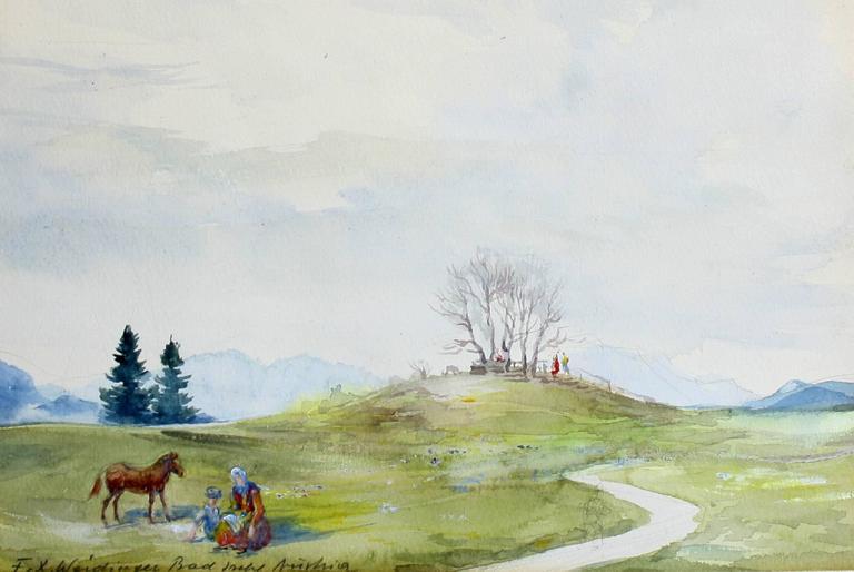Bad Ischl Austria - Painting by Franz Weidinger