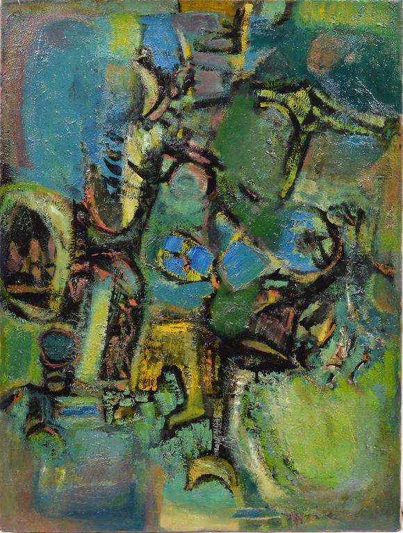 Abstract Figures  - Painting by Ben Wilson