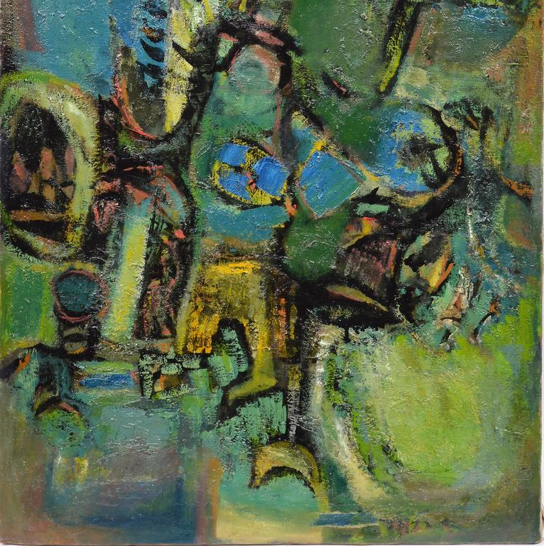 Abstract Figures  - Gray Abstract Painting by Ben Wilson