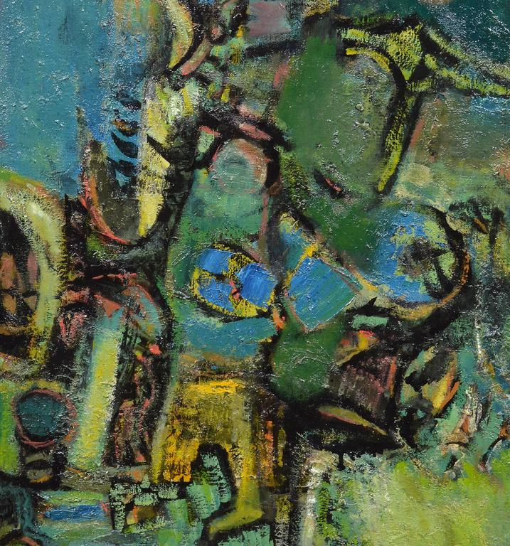 Abstract Figures  - Abstract Expressionist Painting by Ben Wilson