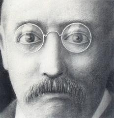 Portrait of a Man in Circular Glasses