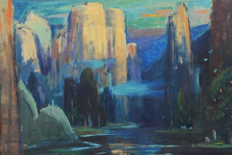 In the Canyons - American Impressionist Painting by Eliot Clark