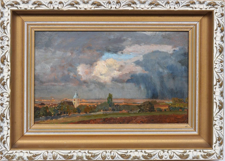 TIna Regina-Leopoldine Blau Landscape Painting - Austrian City View