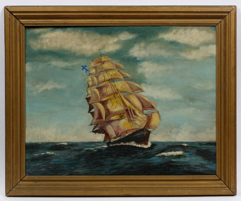 Clipper Ship - Painting by Unknown