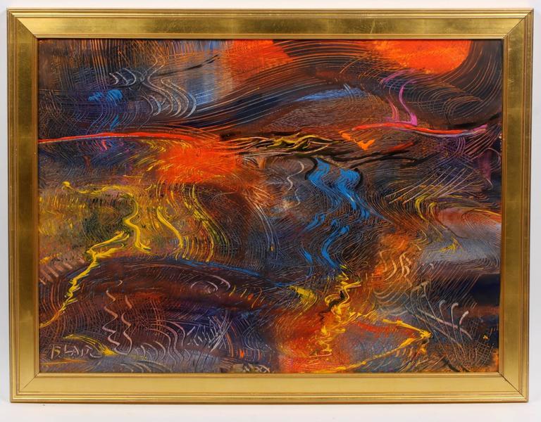 Electric Desert - Painting by Robert Noel Blair