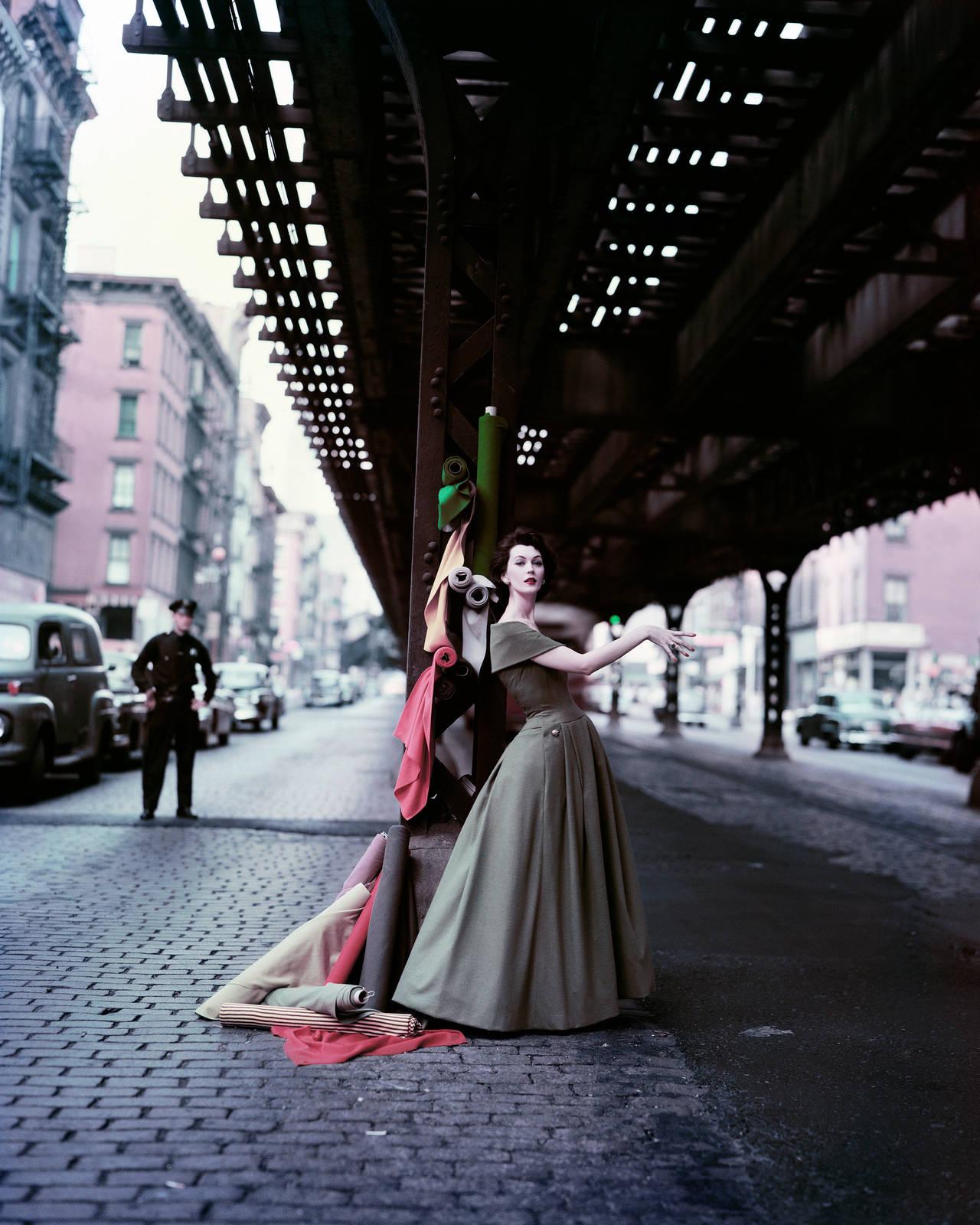 William Helburn - Dovima Under the El - Dior Creates Cosmopolitan Drama 1