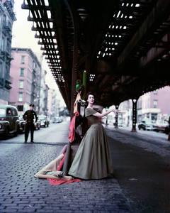 Dovima Under the El - Dior Creates Cosmopolitan Drama