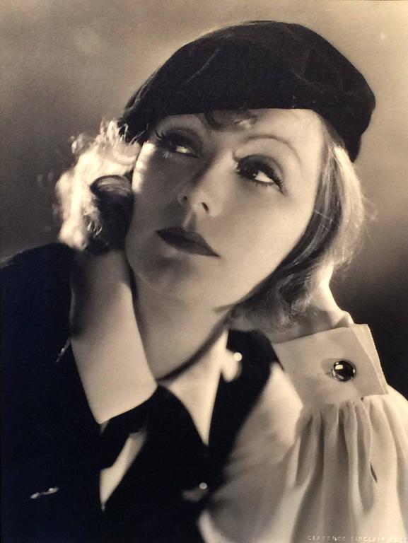Clarence Sinclair Bull Black and White Photograph - Greta Garbo