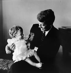 JFK and Caroline, Hyannis Port