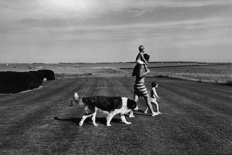 <i>Hyannis Port Summer, Bobby, Michael, Courtney and Dog Brumus,</i> 1962, by Jacques Lowe, offered by Peter Fetterman Gallery