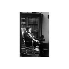 """Rocking Chair"" Senator John F. Kennedy in his Senate Office, Room 362"