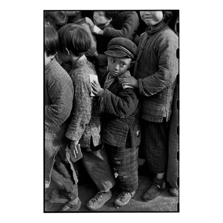 Children Await Rice Distribution, Shanghai