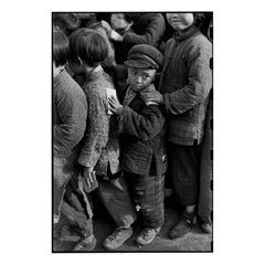 Children Await Rice Distribution, Shanghai