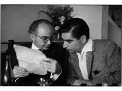 """David """"Chim"""" Seymour and Robert Capa"""