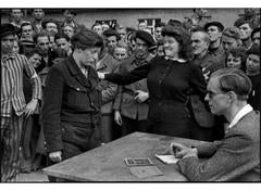 Gestapo Informer Recognized by a Woman She Had Denounced, Dessau, Germany