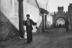 Peking, China, (Man holding walking stick)
