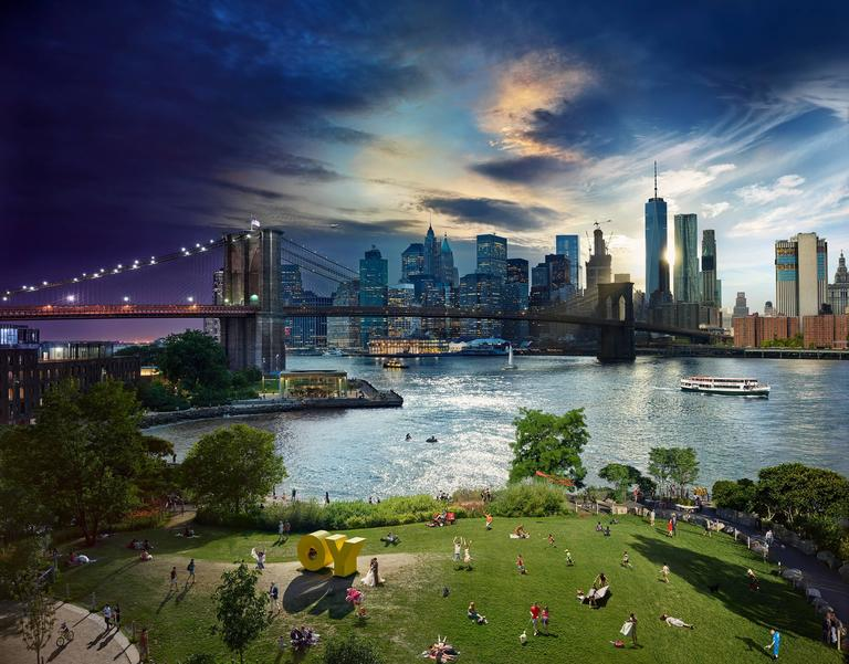 Stephen Wilkes - Brooklyn Bridge, Day to Night 1