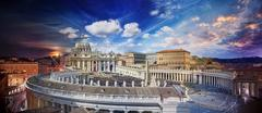 Easter Mass, Vatican, Rome, Italy, Day to Night