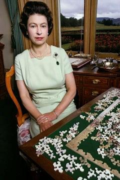Queen Elizabeth with Puzzle